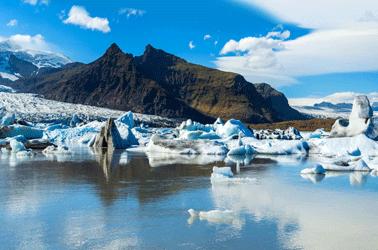 ijsland gebergtes